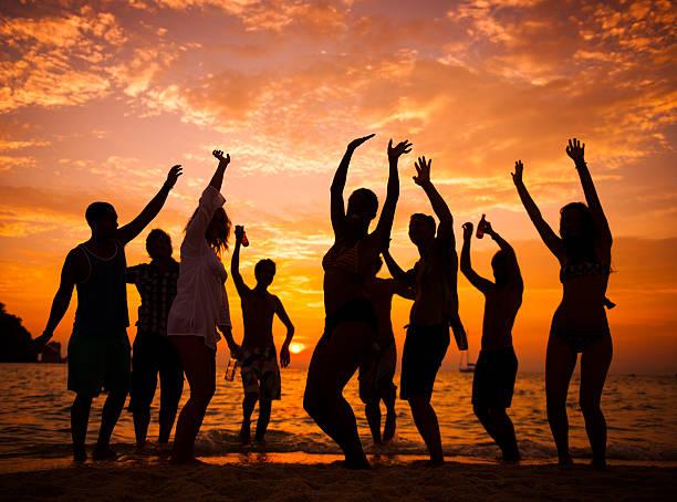 Festa in spiaggia - foto stock