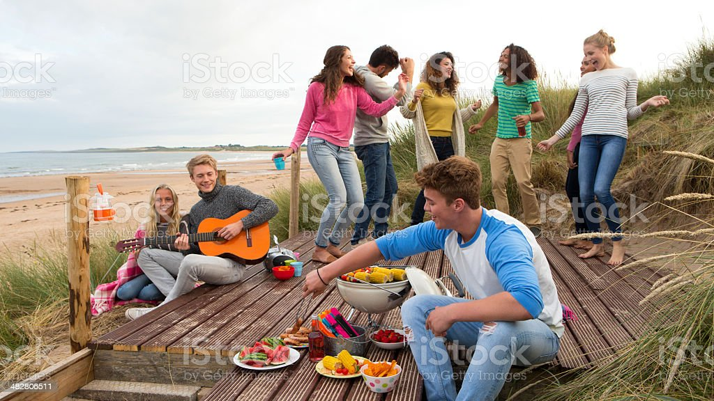 Beach Party stock photo