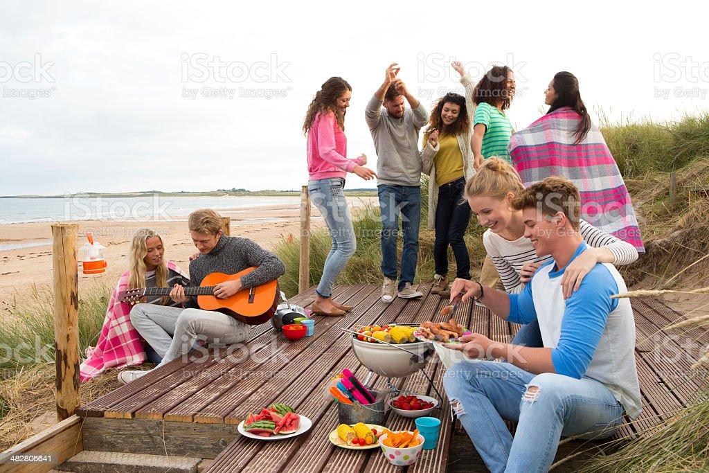Beach Party stock photo