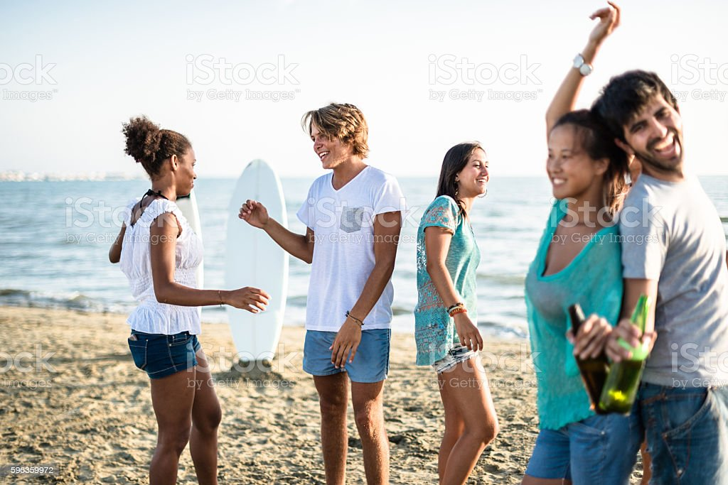 Beach party with alchohol royalty-free stock photo