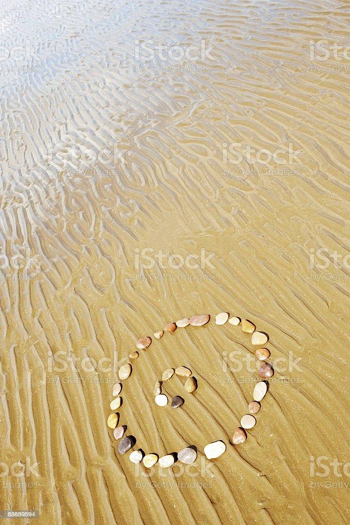 Beach Pattern royalty-free stock photo