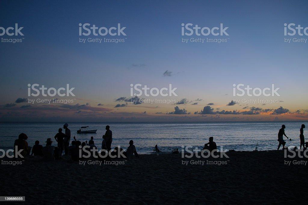 Beach People stock photo
