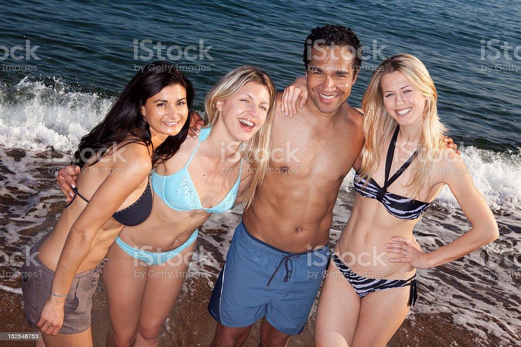 Beach People royalty-free stock photo
