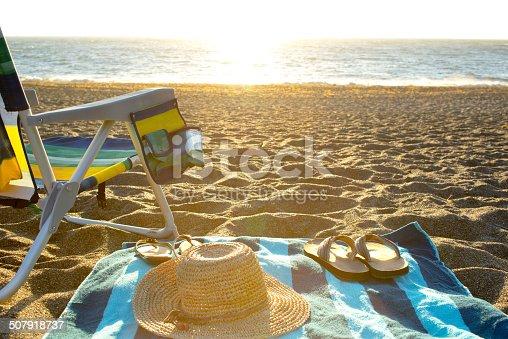 Summer Beach Scene.