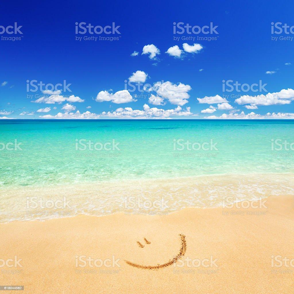 Beach Clear beach and blue sky Andaman Sea Stock Photo