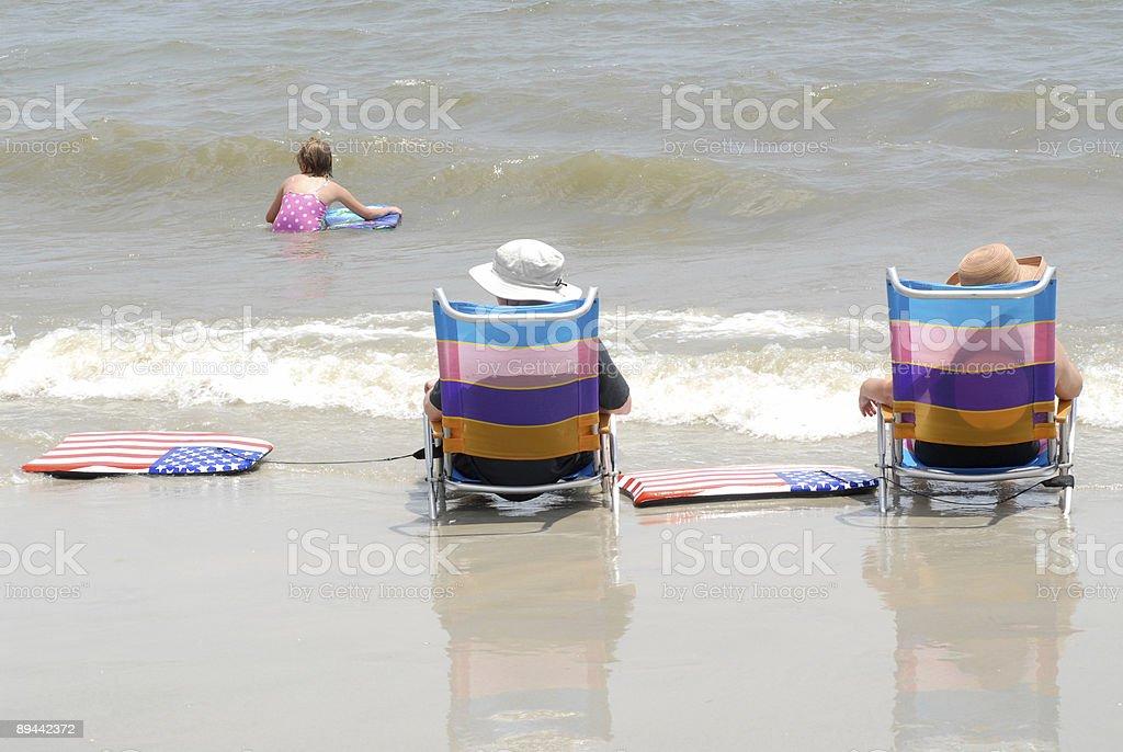 Nous la plage photo libre de droits