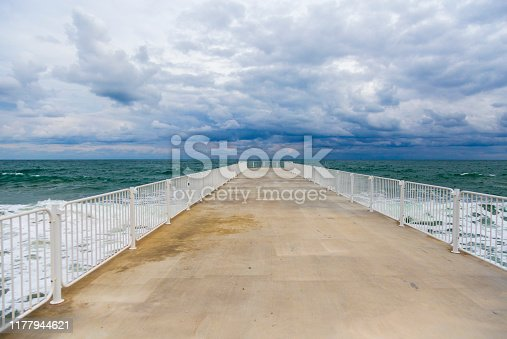Beach Pier, Black sea, Bulgaria