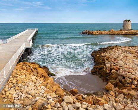 Beach Pier, Black sea, Bulgaria