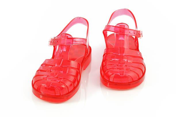 Playa Zapatos de plástico - foto de stock