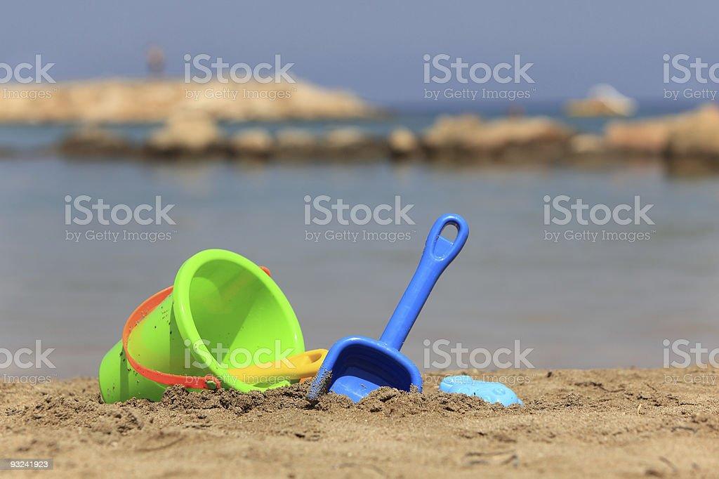 Beach play royalty-free stock photo