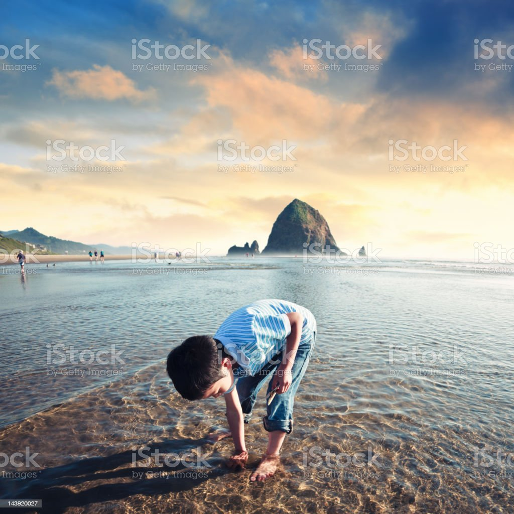 Beach play time stock photo
