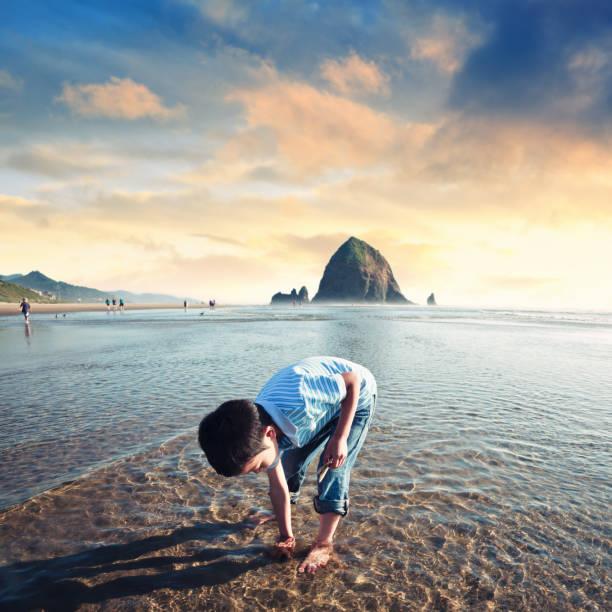 diversão de praia - com os pés na água - fotografias e filmes do acervo