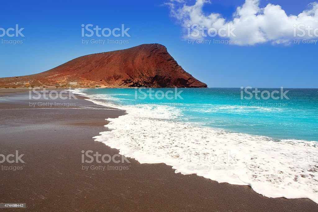 Beach Playa de la Tejita in Tenerife stock photo