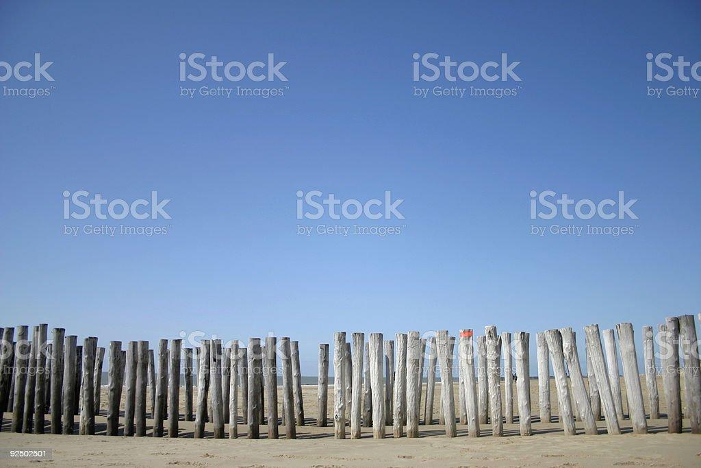 beach poles royalty-free stock photo