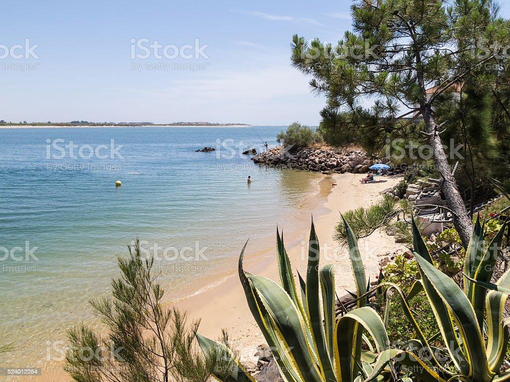 Beach, Portugal, Algarve, Vila Real de Santo Antonio stock photo
