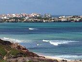 beach, Portugal, Peniche, surf, waves, nature