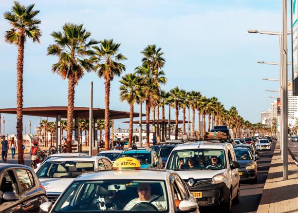 Beach Promenade - Tel Aviv, Israel stock photo