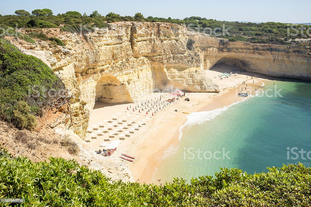 beach ready to relax tourists stock photo