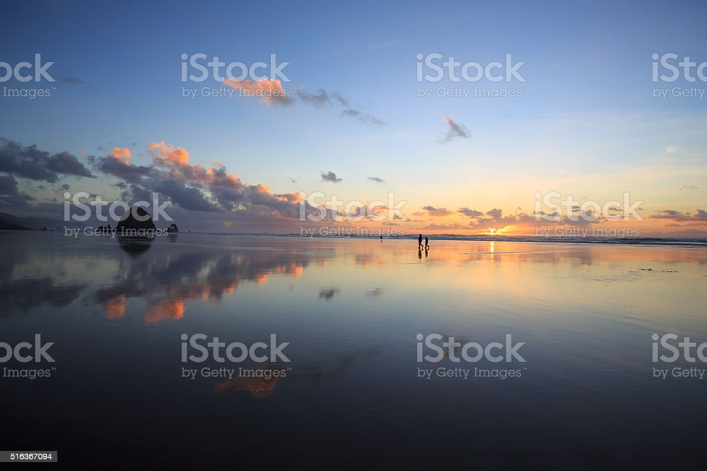 Beach Reflections stock photo