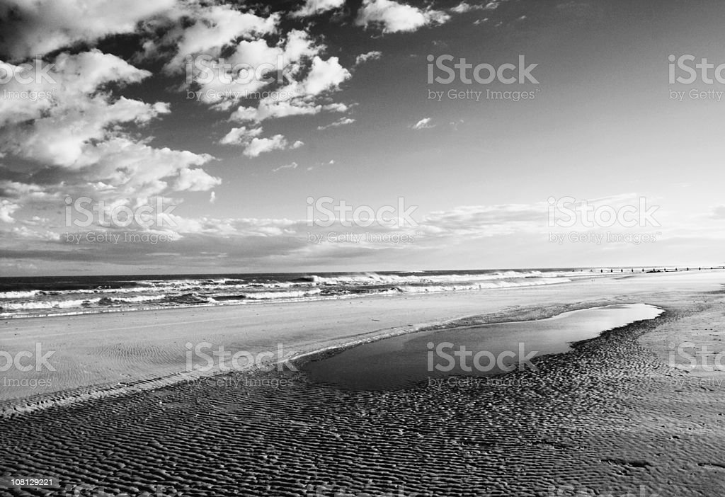 Beach Reflective Pool (Infrared) royalty-free stock photo