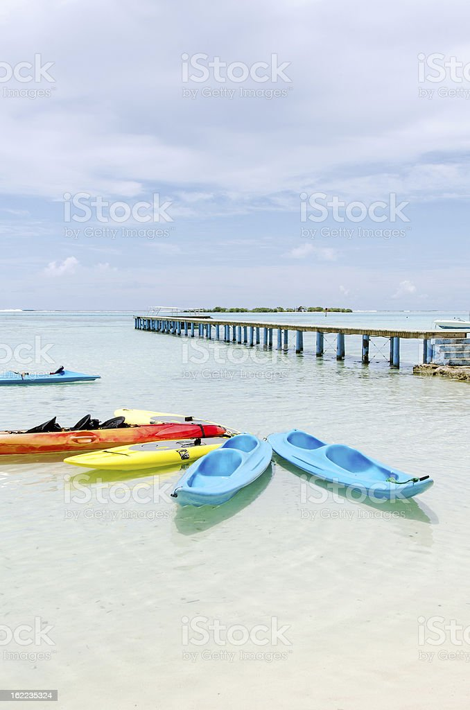 Beach Rentals and Lagoon  Moorea, Tahiti royalty-free stock photo