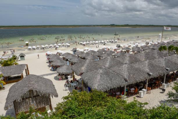 Beach resort at Jericoacoara on Brazil stock photo