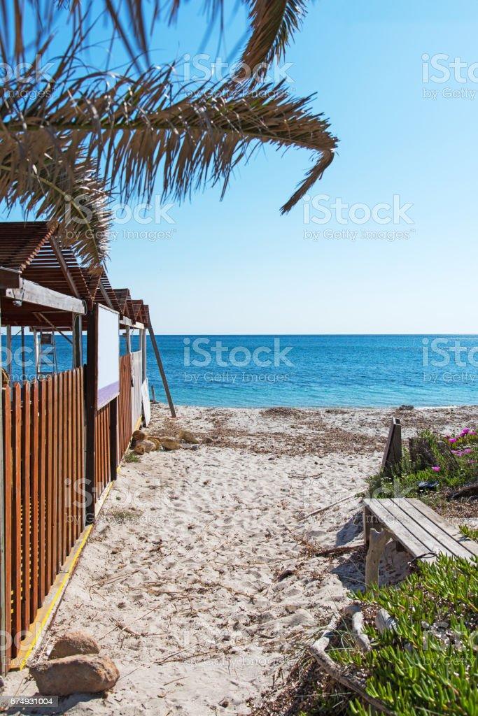 beach resort in Alghero royalty-free stock photo