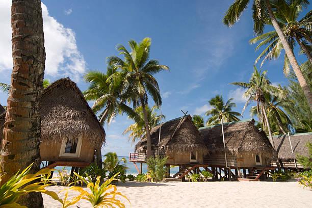 Beach Resort in Cook Islands stock photo