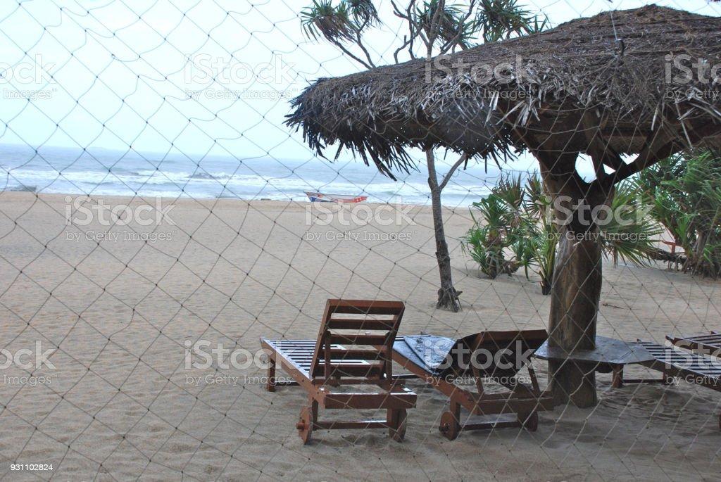 Sri Lanka Beach resort - Royalty-free Deniz manzarası Stok görsel
