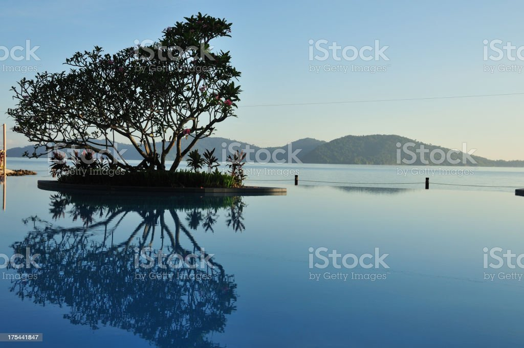 Beach resort - Kota Kinabalu stock photo