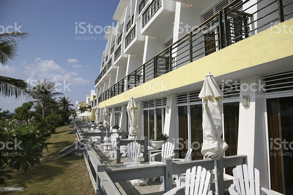 Beach Resort Patio stock photo