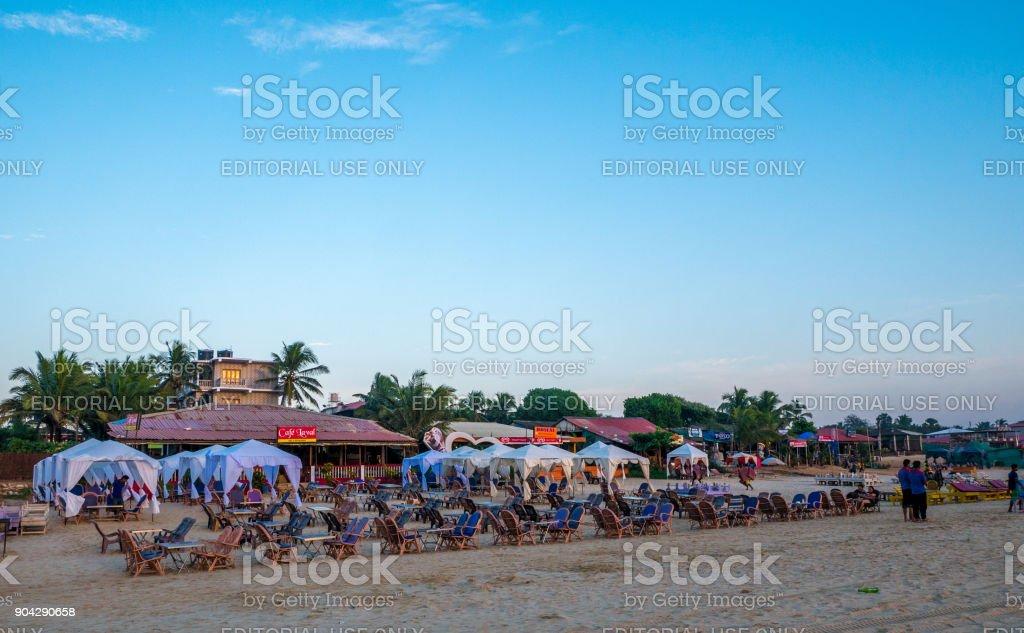 Beach Restaurant stock photo
