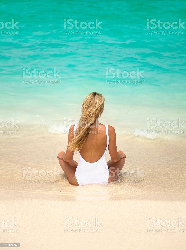 beach retreat royalty-free stock photo