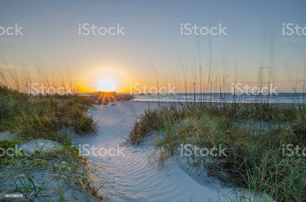 Beach Rise stock photo