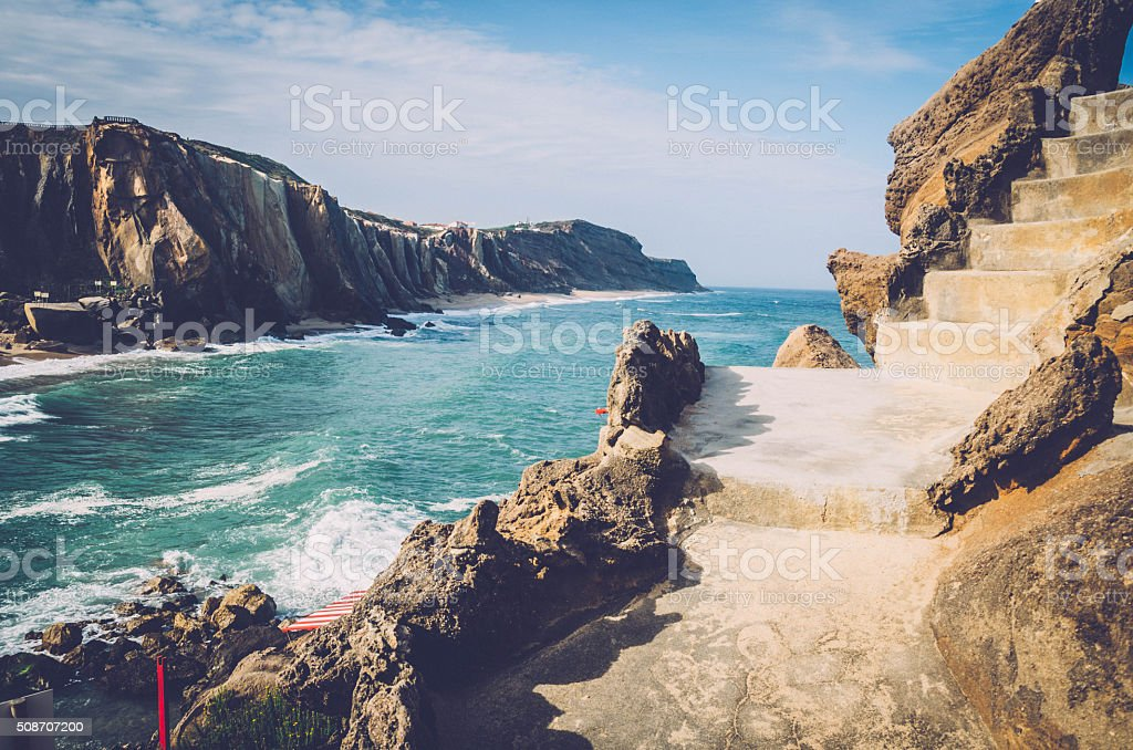 Strand Fels Klippe in Santa Cruz – Foto