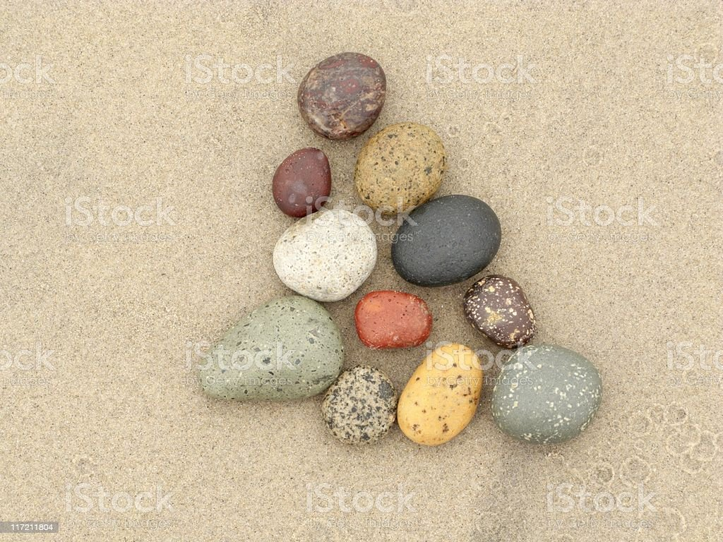 Beach Rock Series, Sand, Stone, Smooth, Colorful, Erosion, Healing royalty-free stock photo