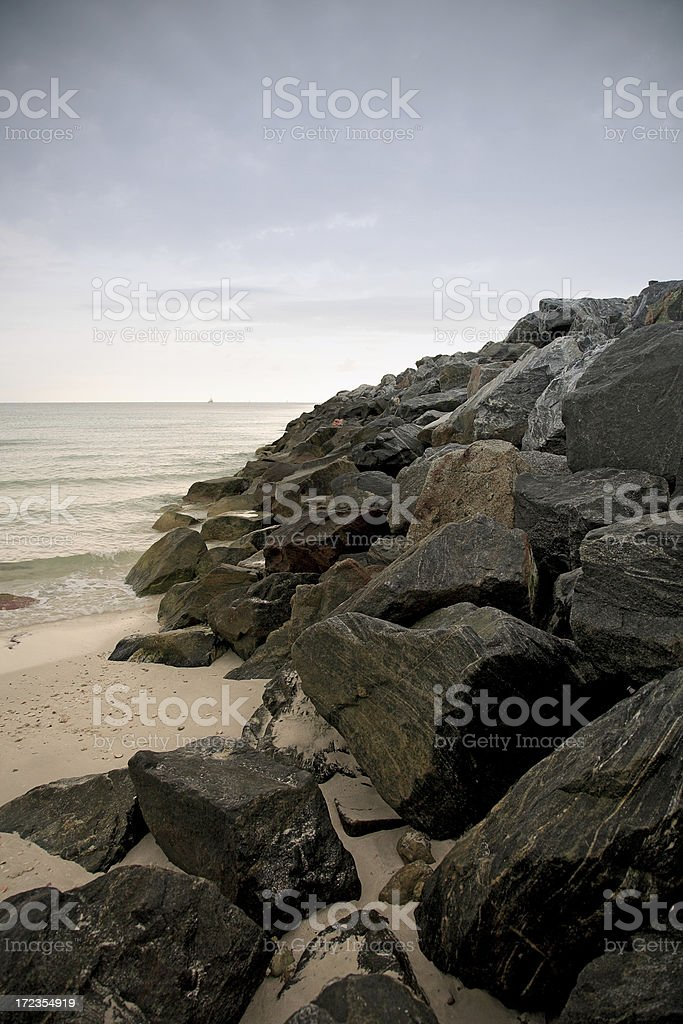 beach rocks royalty-free stock photo