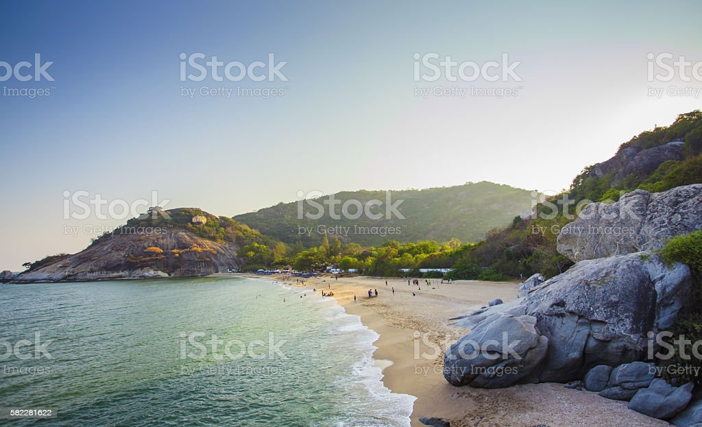 Beach rocks stock photo