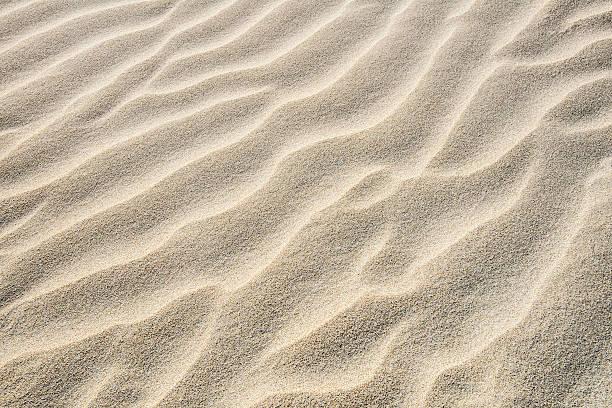Beach Sand Background Fine Detail Wavy Diagonal Pattern stock photo