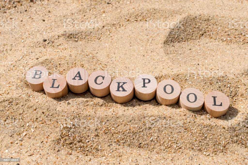 Beach / Sand concept for Blackpool stock photo