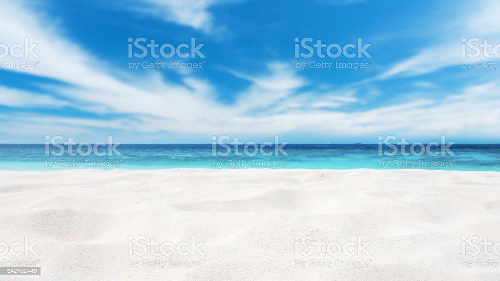 Plaj kum kopya alan sahne - Royalty-free Ada Stok görsel