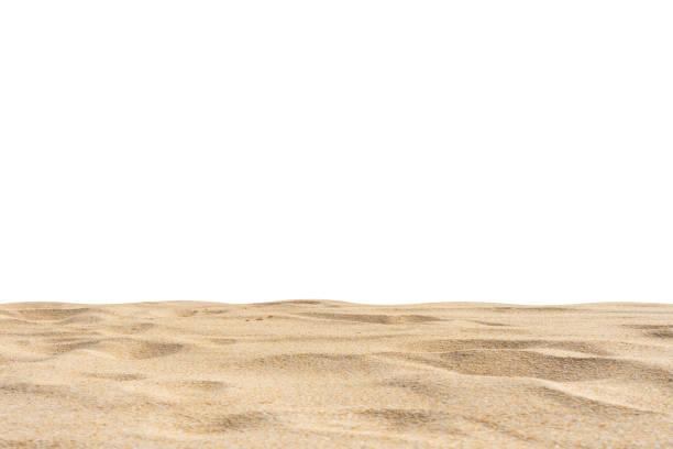 textura de arena de playa di-cut clipping path fondo blanco - playa fotografías e imágenes de stock