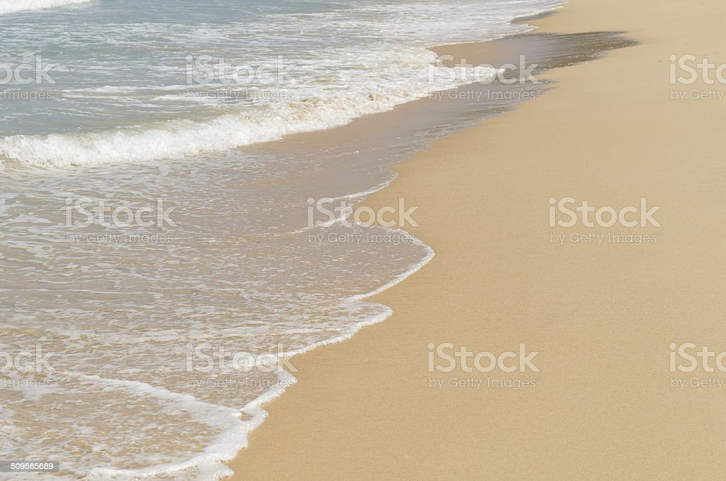 Beach Sand Water Background Royalty Free Stock Photo