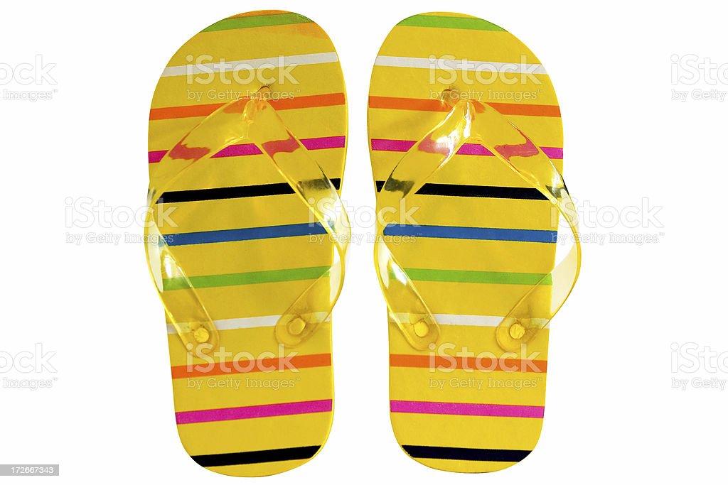 Beach Sandals royalty-free stock photo