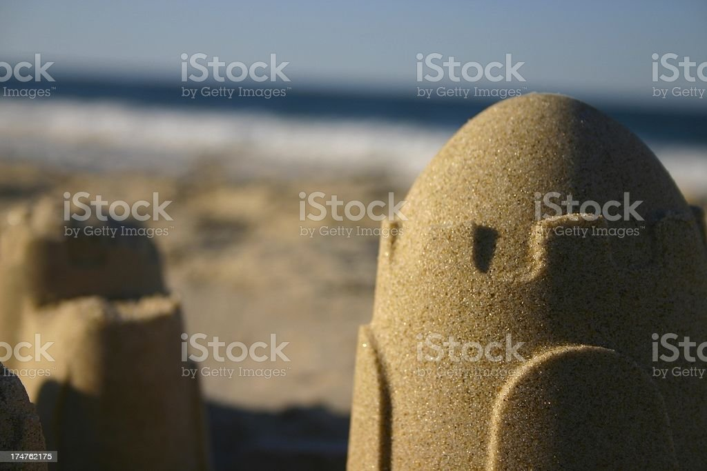 beach sandcastle estate royalty-free stock photo