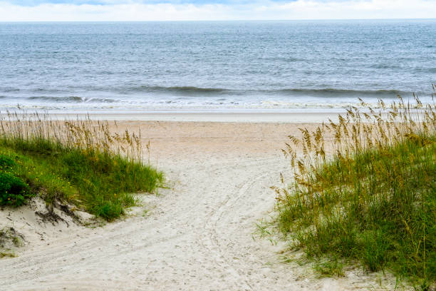 Strandszene auf Amelia Island, Florida – Foto