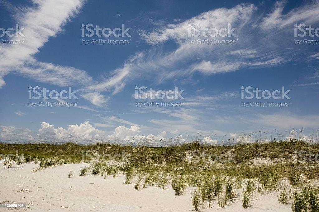 beach scene horizontal royalty-free stock photo