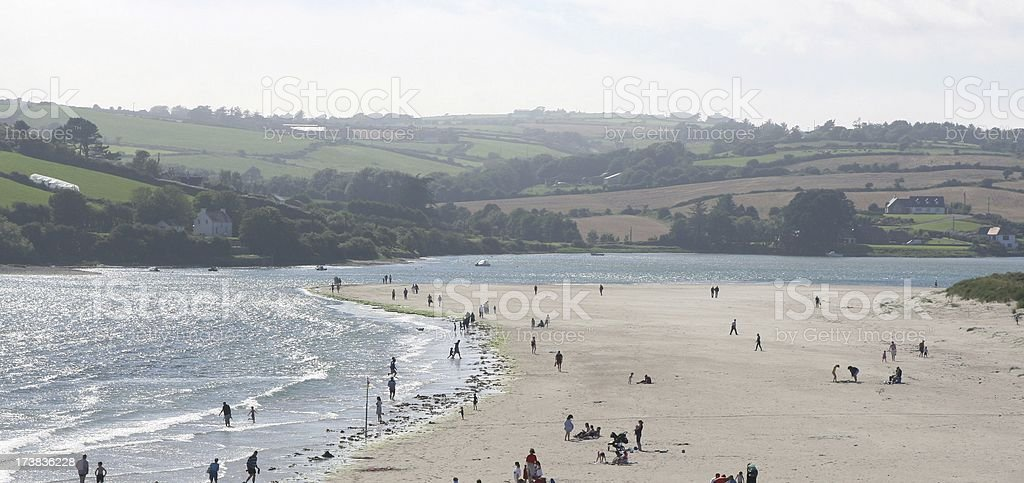 Beach Scene - Inchydoney Island, Clonakilty Ireland stock photo