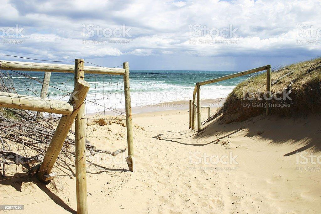 beach scene royalty-free stock photo