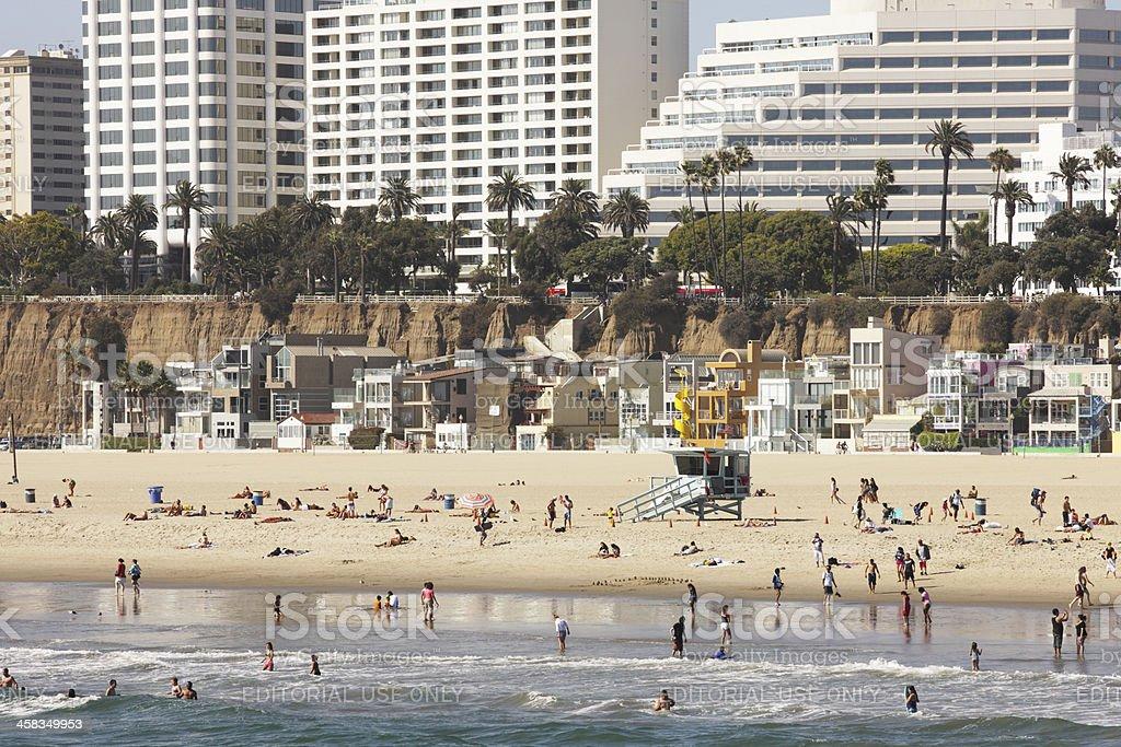 Beach Scene Santa Monica California royalty-free stock photo